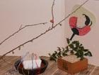 ■2月16日「さんか・さろん」の講師・丸山薫さんの作品。室礼(しつらい)2月「節分と針供養」
