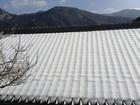 ■奈良県十津川村谷瀬にも雪。でもだんだん春が近づいています。