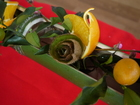■和歌山県紀の川市「フルーツ・ツーリズム研究会」の、市民手作り「フルーツ茶会」で。