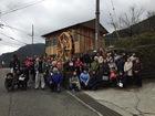 ■奈良県十津川村谷瀬で手造りの「ゆっくり水車」が完成、回り始めました。
