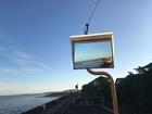 ■雲仙市の海辺を走る島原鉄道。これにのるだけでスローライフが味わえます。