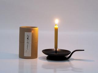 滋賀県高島市「お米のろうそく」