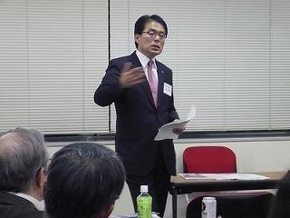 2011.1.18さんか・さろんで。増田寛也会長のスピーチ