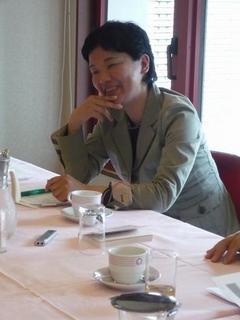2008年5月14日笑顔が素敵な島村菜津さん。